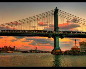 Burning Sky Manhattan Bridge. From Vagabondish