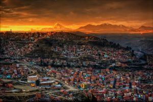 Sunset in La Paz. Found here