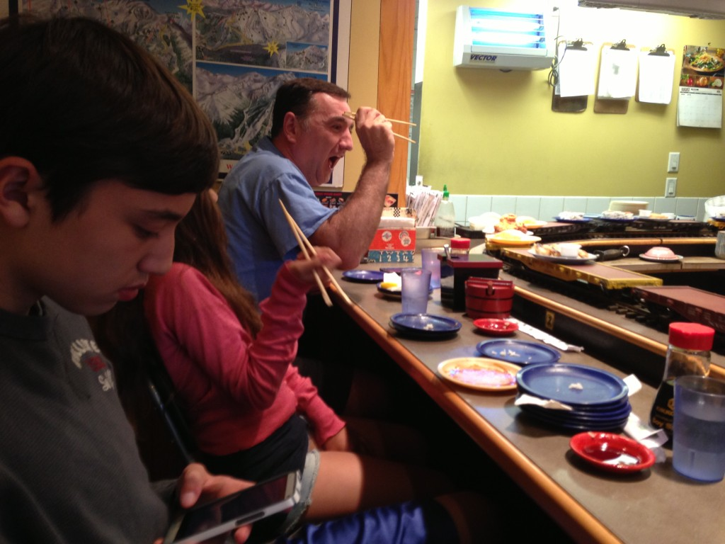 Attacking sushi!