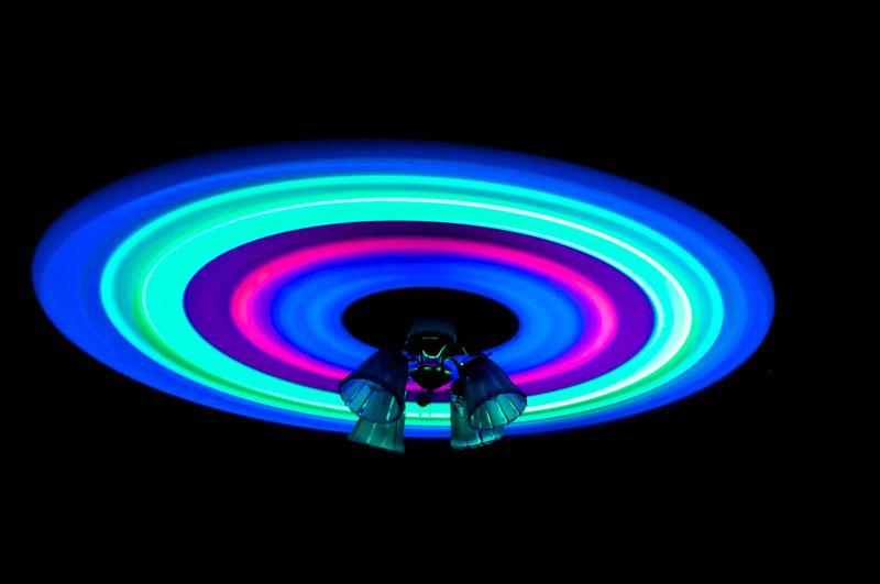 glowsticks celing fan