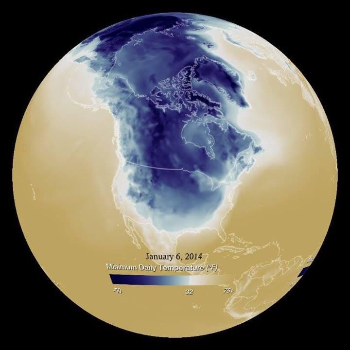 Polar Vortex view from NOOAA.