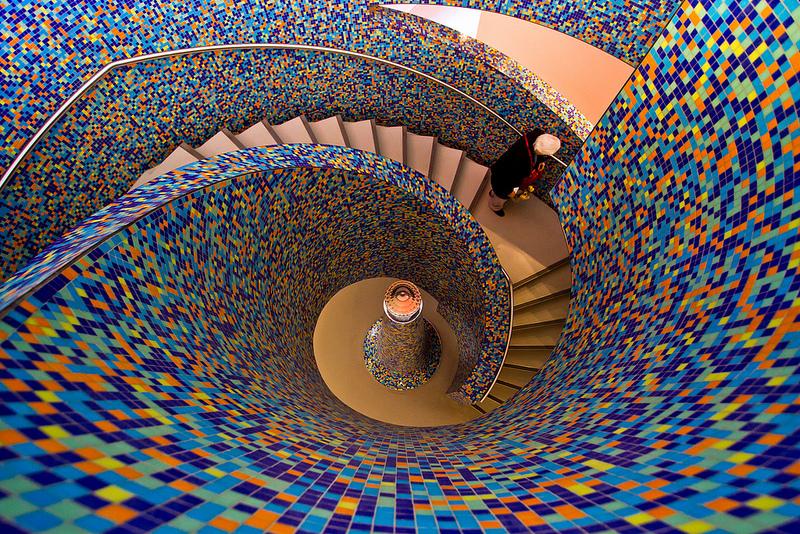 iharsten Groninger Museum staircase; Groningen