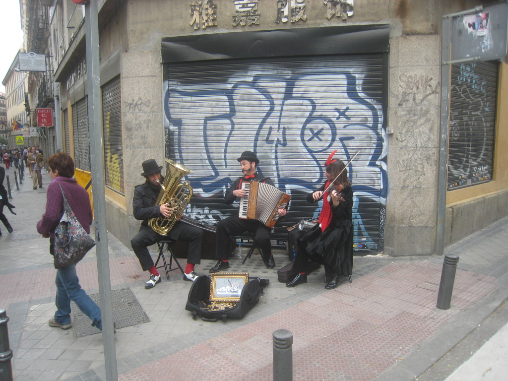 El Rastro Street Band in Madrid