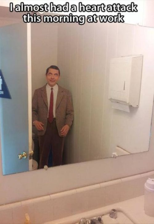 Mr Bean bathroonm scary
