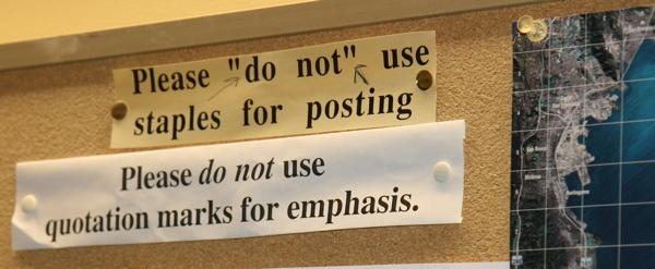 staples quotation marks