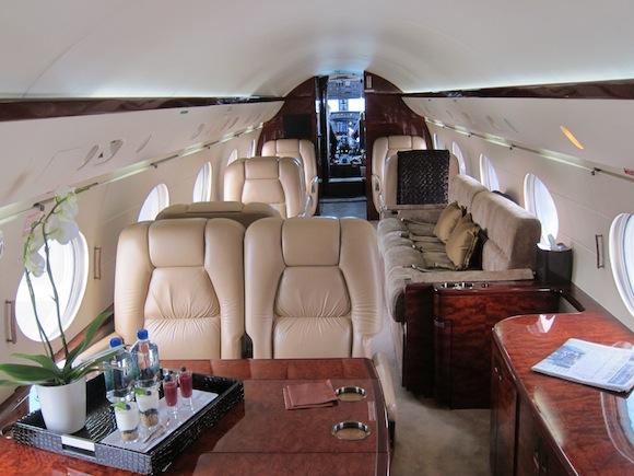 Gulfstream IV interior seating