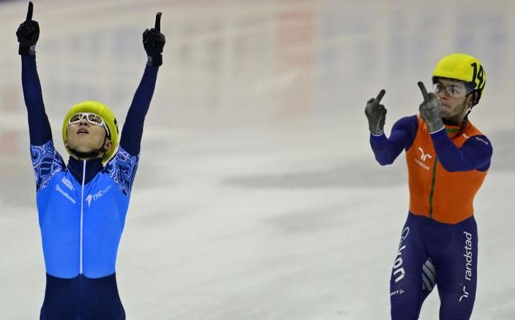 bad sportmanship speed skating