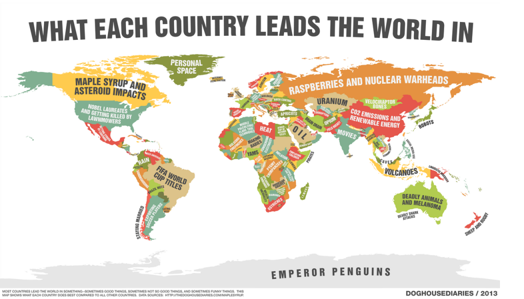 36 maps world new ways countries lead