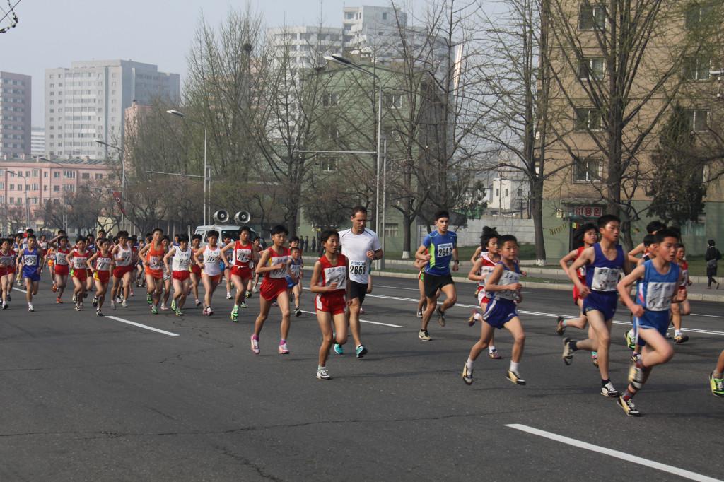 pyongyang north korea marathon running