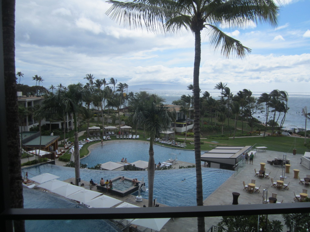 View from our balcony at the Andaz Maui