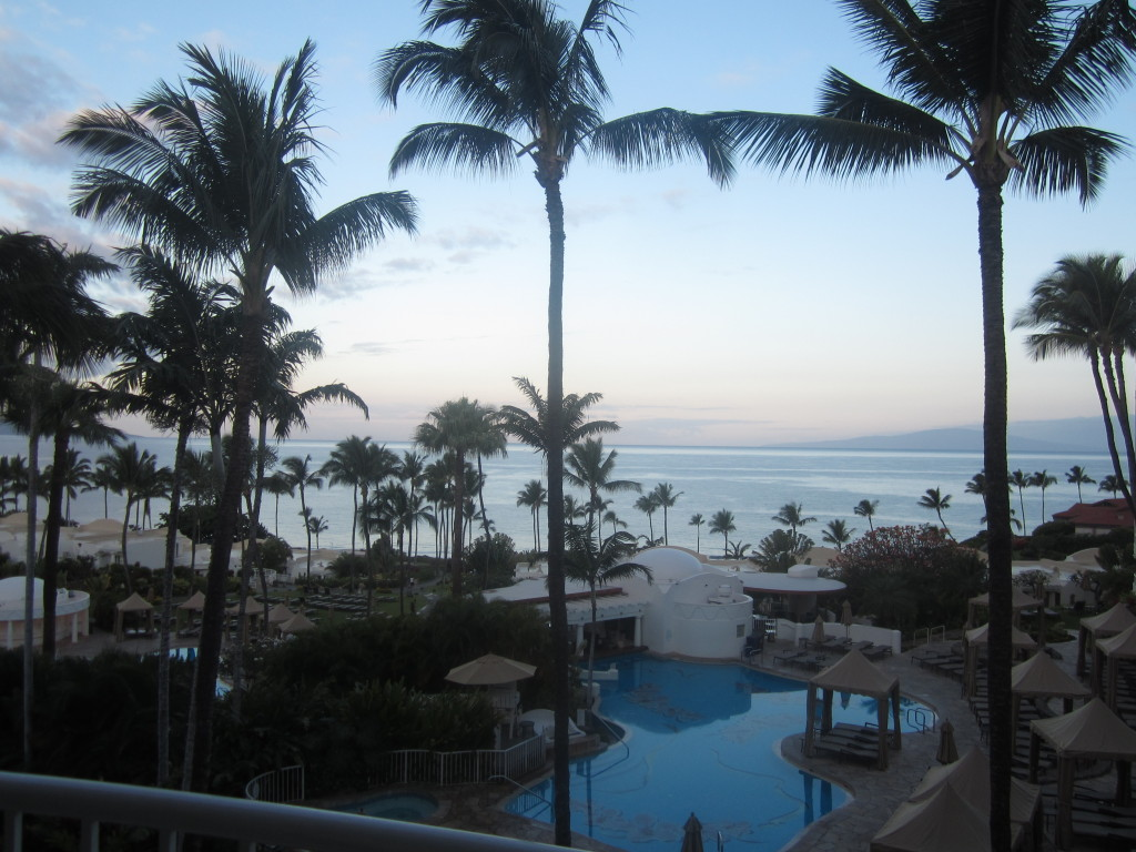 View from our suite at the Fairmont Kea Lani