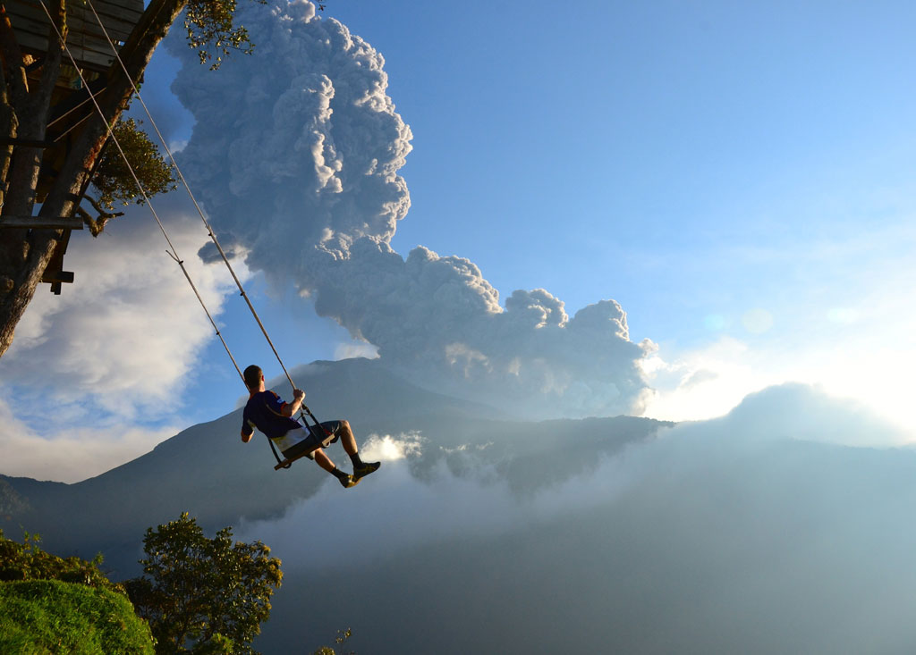 End of the World swing. Banos, Ecuador
