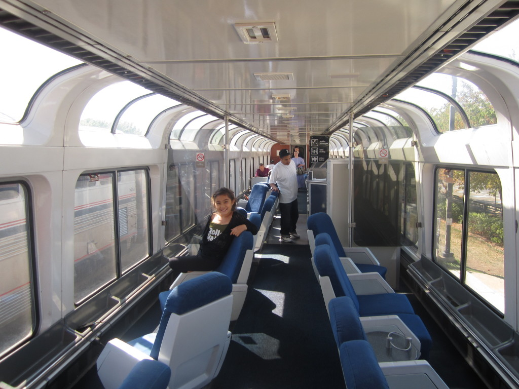 Amtrak observation car Southwest Chief train Amtrak