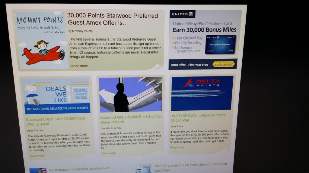 Credit Card sales by Travel Miles Points bloggers