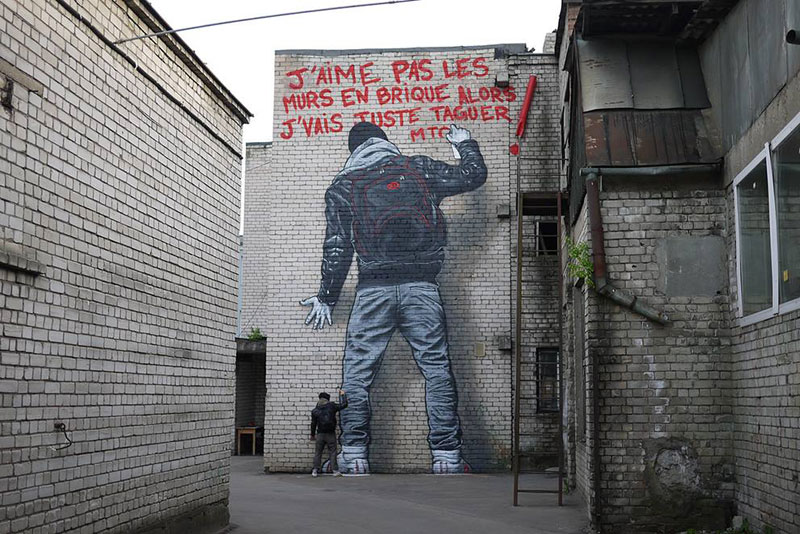 MTO French street artist art