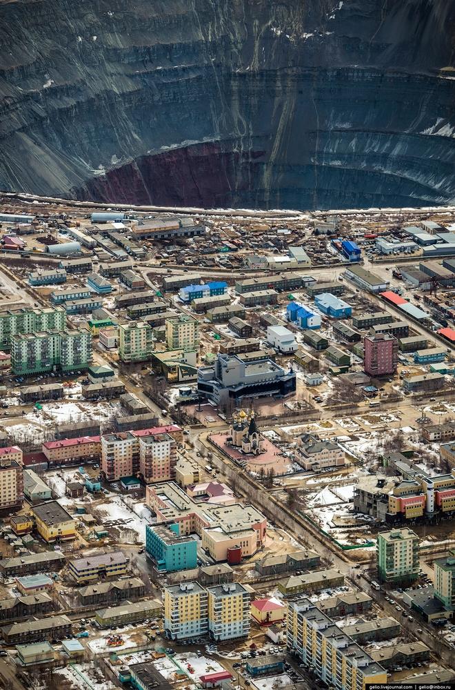 "City of Mirny – the diamond ""capital"" of Russia, located in Yakutia. It is 1200 km from Yakutsk."