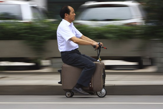 chinese inventor suitcase wheels scooter