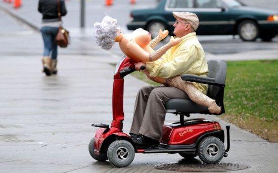 WTF Grandpa plastic sex doll