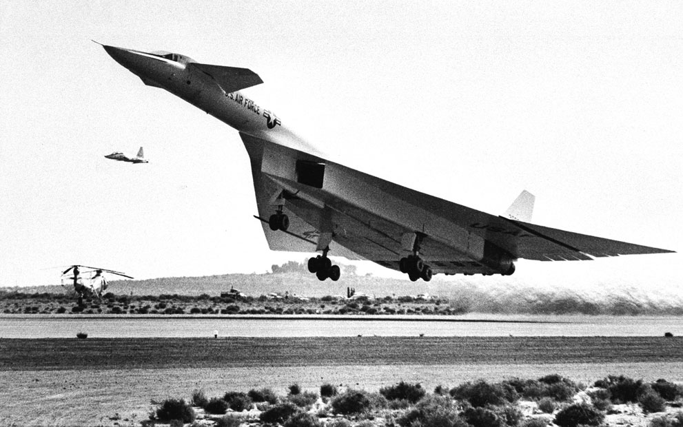XB70A Valkyrie bomber Edwards Air Force Base