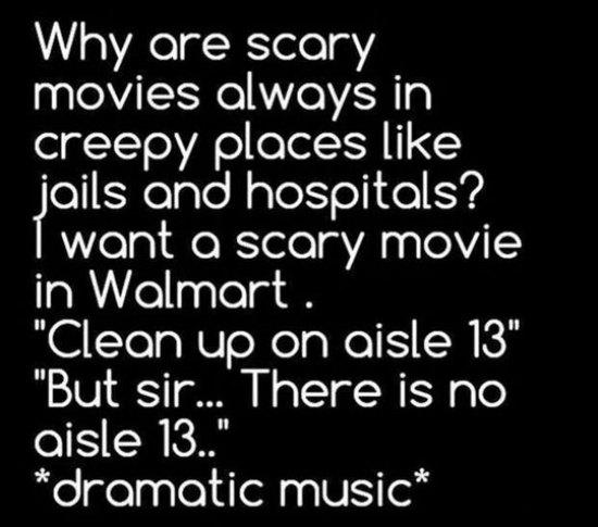 wal mart scary movies