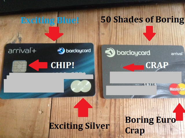 Arrival credit card Barclays chip