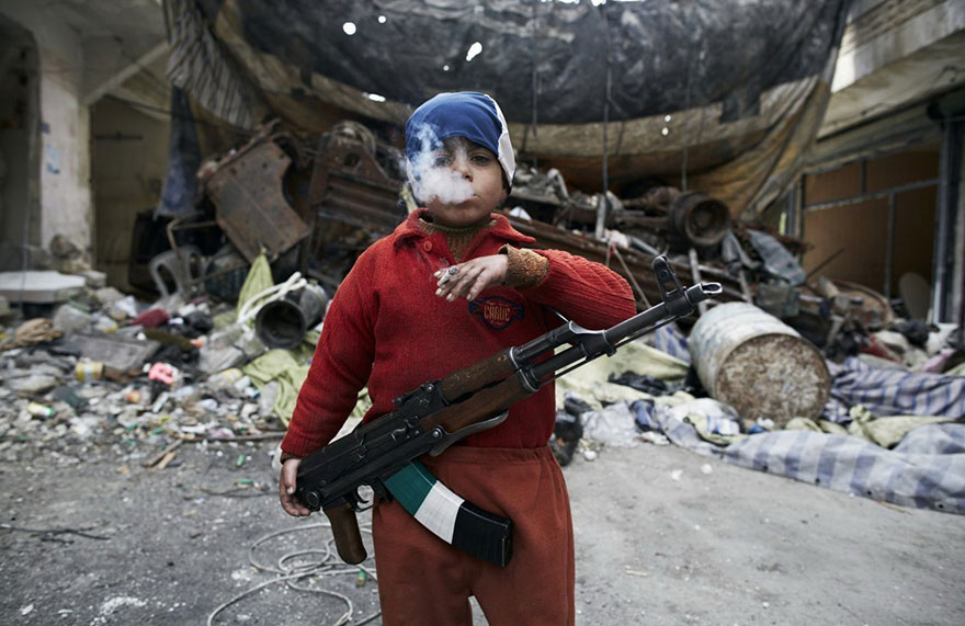 syrian rebel figher child children civil war