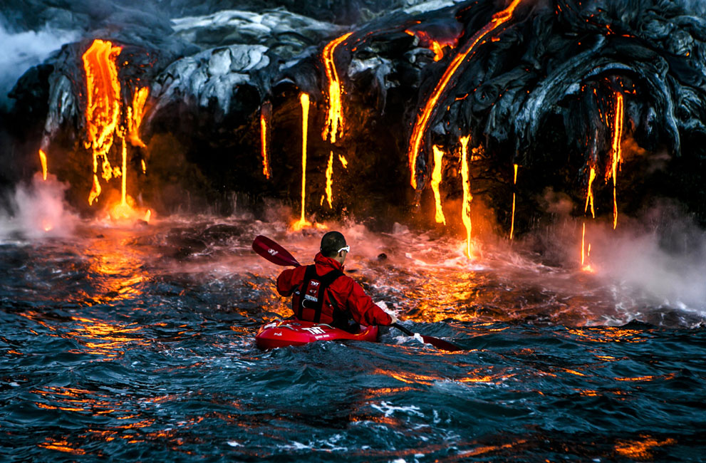 Kilauea, Big Island, Hawaii. The most extreme place we put our kayakers to paddle to date. (© Alexandre Socci/National Geographic Traveler Photo Contest)