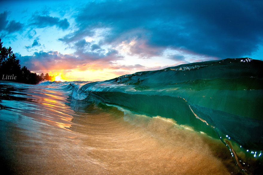 photographer clark little waves hawaii crashing