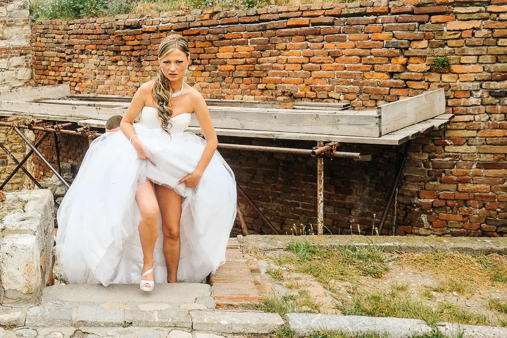 Bride in Belgrade, Serbia