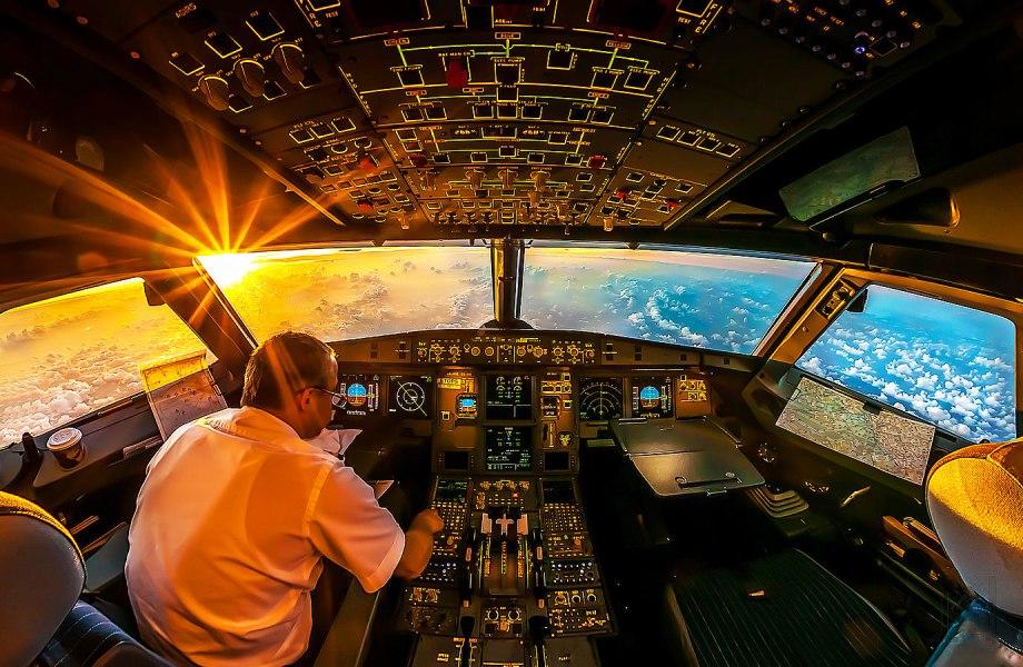 cockpit airplane sky flying pilot stunning