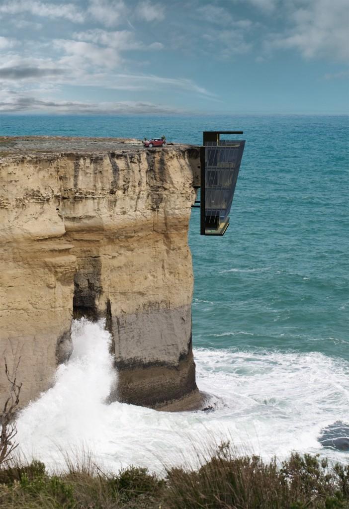 cliff house modscape concept Australia