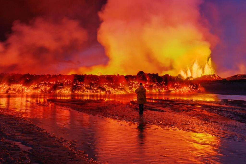 Iceland Volcano Lava Flow Holuhraun Fissure Bardarbunga