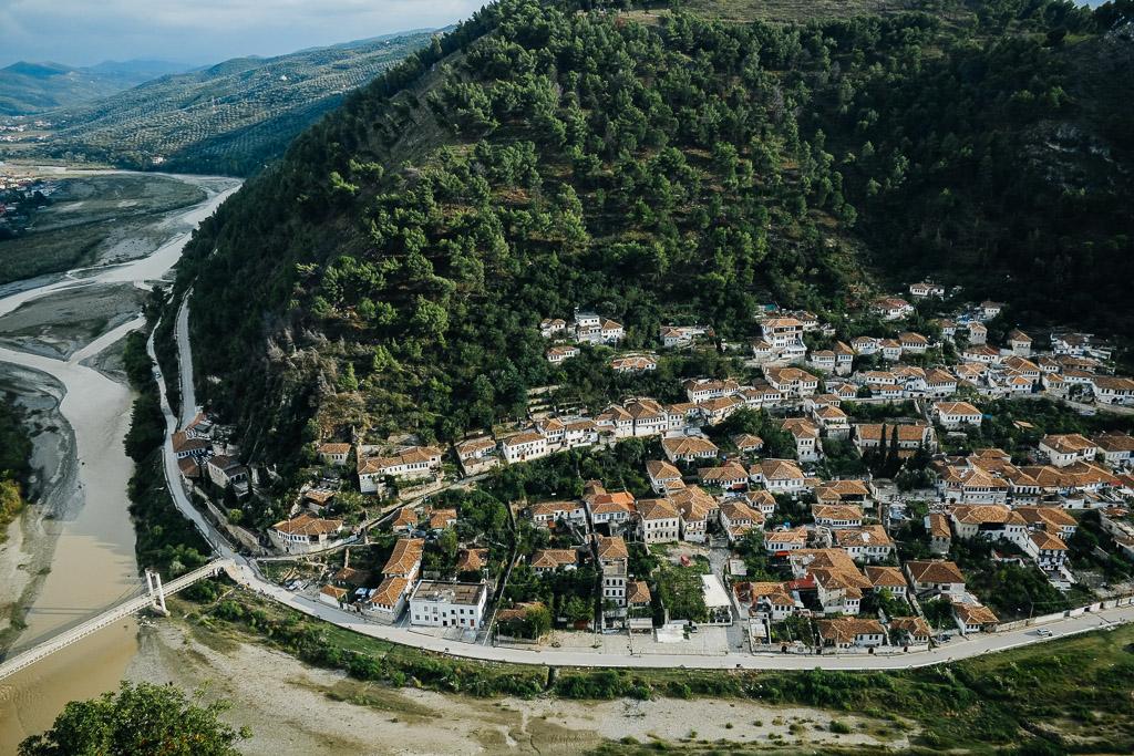 "Peak Berat citadel walls Ottoman architecture ""city of a thousand windows"""