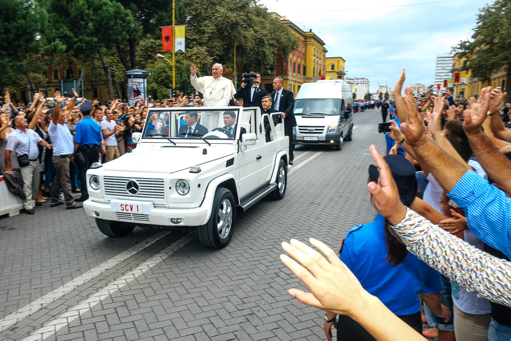 The Pope in Tirana, Albania yomadic tbb