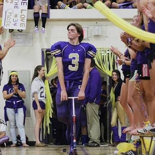 football player rolling entrance funy stadium tbb