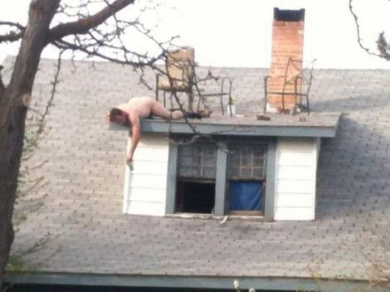 drunk drinking roof house passed out funny