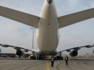 airplane lufthansa frankfurt tarmac
