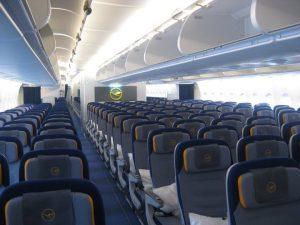 economy class seat lufthansa airplane