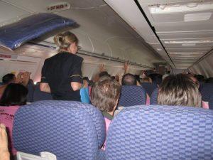 continental flight crew fun playing around