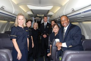 continental crew charter flight