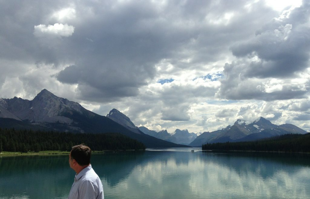 Maligne Lake, Jasper National Park, Alberta Canada. July 2013